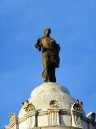 Image result for statue of ceres on missouri dome