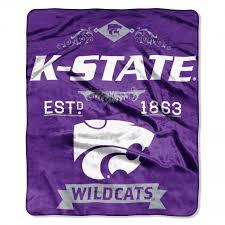 kansas state wildcats ncaa label raschel throw