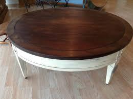 large vintage antique round coffee table brown color handmade laminate cool interior design vintage virginia trunk