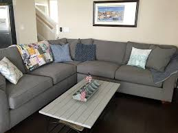 havertys norfolk sectional in custom fabric