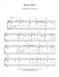 7 years old sheet music seven years sheet music by norah jones easy piano 103981