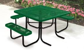 green supersaver commercial square picnic tables wheelchair accessible