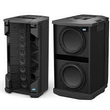 bose pa. bose f1 812 flexible array pa speakers x2 w/ 2x subs pa d