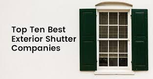 top 10 best exterior shutter companies