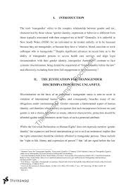 transgender discrimination essay discrimination and the  transgender discrimination essay