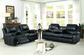 reclining sofa with cup holder oriole reclining sofa set faux leather black reclining sofa with drink reclining sofa