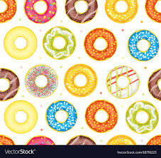 Donut Pattern Simple Decorating