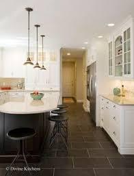 white kitchen dark tile floors. White Kitchen Dark Tile Floors D