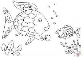 printable impressive inspiration the rainbow fish coloring page gives a precious scale to small