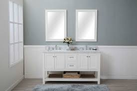 white shaker bathroom vanity. Impressive 2 Sink Bathroom Vanity White Shaker 60 Drawers Sinks Open Shelf W