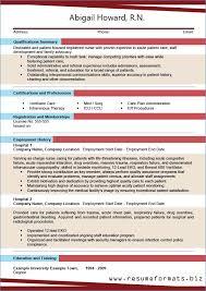 Resume Model For Job Resume Example