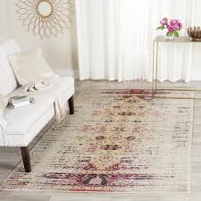 wondrous vintage pink rug and ivory