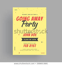 Invitation Cards For Farewell Party Farewell Party Banner Invitation Card Design Stock Vector Royalty