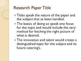 Research Paper Title Research Paper Title About Love