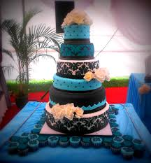 black and white and blue wedding cakes. Intended Black And White Blue Wedding Cakes