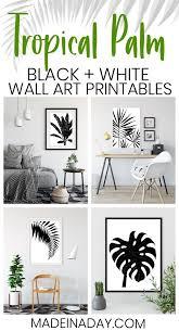 beautiful tropical palm watercolor wall