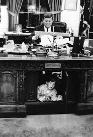 jfk in oval office. President John F. Kennedy And Jr. In The Oval Office. Photo By Stanley Tretick, Look Magazine. Jfk Office