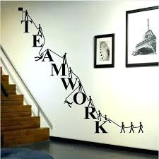 cool wall stickers home office wall. Office Wall Decals Decal For Cooperate Teamwork Stickers Home Decor . Cool