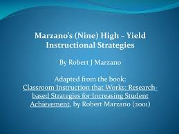 Marzano Elements Chart Ppt Marzanos Nine High Yield Instructional Strategies