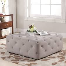 tufted ottoman coffee table storage ikea round cube big lot square target and pouf diy
