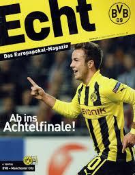 Borussia Dortmund v Man City Champions League Official Matchday Programme  4th December 2012