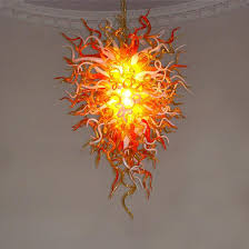 anemone 29 hand blown glass chandelier by seth parks glass