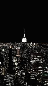 City Lights Wallpaper Black And White Download Wallpaper 938x1668 New York Night City Skyscraper