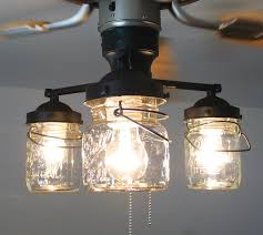 Awesome ... Light Kit For Ceiling Fan Fans Lights Posts Renovation House Mason Jars  High Quality Glass Balloons ... Nice Look