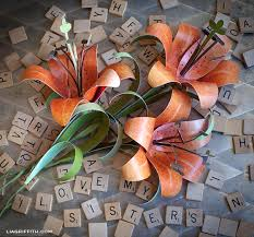 Diy Paper Tiger Lily
