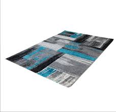 copper abstract area rug blue