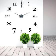 sticker wall clocks whole creative big digital mirror sticker wall clock modern art wall clocks watch