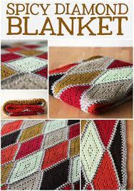 Crochet Pattern Charts Free Crochet Pattern Spicy Diamond Blanket Haak Maar Rraak