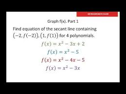 how to find the equation of a secant