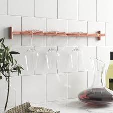 copper wine glass rack holder wall