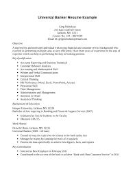universal banker resume universal banker sample resume fcsosyal com