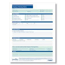 Employee Warning Form Free Employee Warning Notice