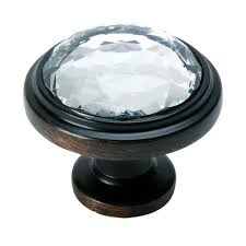 oil rubbed bronze knobs.  Bronze Cosmas 5317ORBC Oil Rubbed Bronze U0026 Clear Glass Round Cabinet Knob In Knobs I