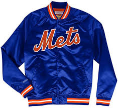 Mitchell & Ness <b>Men New York</b> Mets Lightweight Satin <b>Jacket</b>