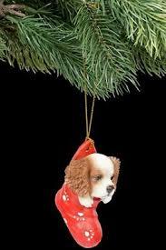 Christbaumschmuck Hund King Charles Spaniel Im Strumpf