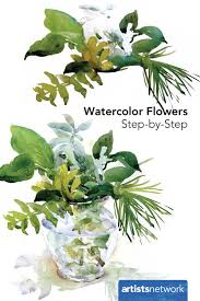watercolor flowers step by step artist daily