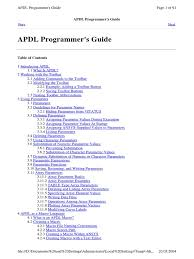 Apdl Programmer's Guide | Parameter (Computer Programming) | Command ...