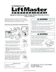 chamberlain liftmaster professional garage door opener remote garage rh saari info liftmaster 8500 user manual liftmaster operation manual