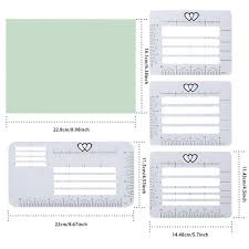 Notebook Templates 4pcs Postcards Multi Use Letter Notebook Templates Rulers Craft Invitation Stencil Set Envelope Addressing Guide Transparent