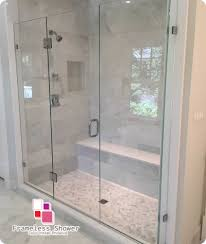 as frameless shower door install