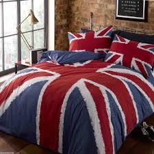 union jack british flag duvet cover set