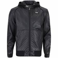 ecko men s coco quilted leather look jacket black description