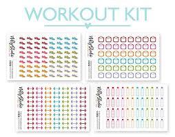 Amazon Com Workout Sticker Bundle Exercise The Nifty Studio