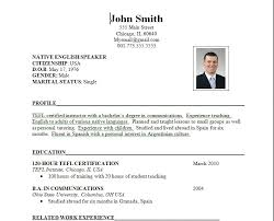 Resume Templates For Job Application Job Application Resume Template
