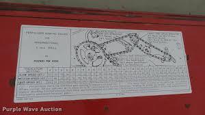 International 510 Grain Drill Seed Chart International 510 Grain Drill Item Dm9151 Sold April 19