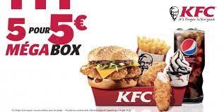 Top free images & vectors for menus kfc 5 euros in png, vector, file, black and white, logo, clipart, cartoon and transparent. Notre Avis Sur Le Kfc Megabox Box De 5 Produits A 5